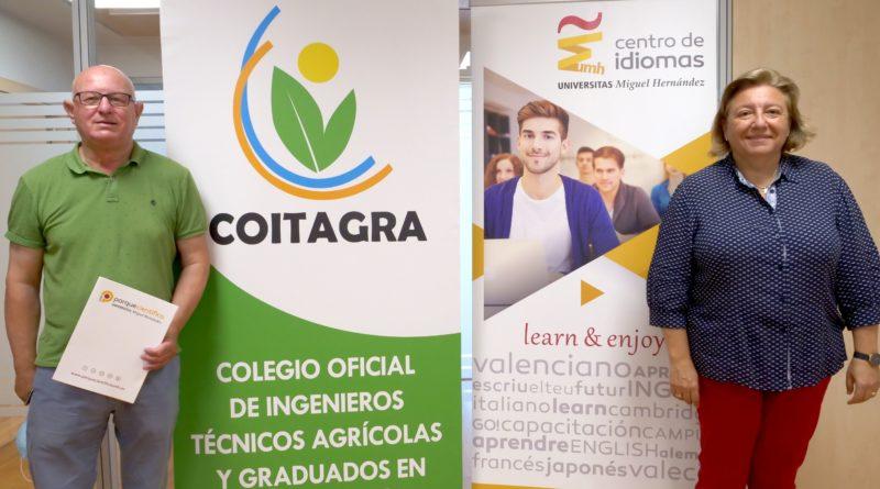 El Centro de Idiomas de la UMH y el COITAGRA colaboran para impulsar el aprendizaje de inglés y valenciano