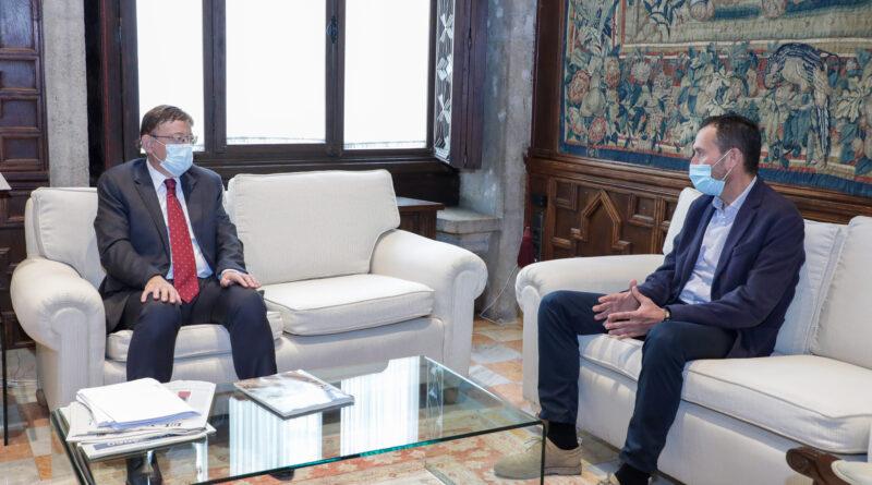 Ximo Puig recibe en audiencia al alcalde de Elche para impulsar proyectos sanitarios y de reactivación económica