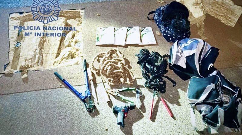 La Policía Nacional ha impedido que se produjera un robo en un conocido establecimiento comercial por el método del butrón