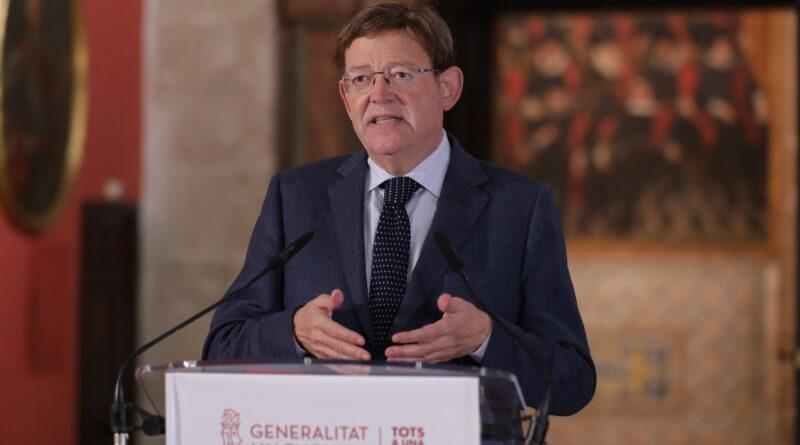 Declaración institucional del presidente de la Generalitat sobre nuevas medidas en la Comunidad Valenciana ante la pandemia COVID-19