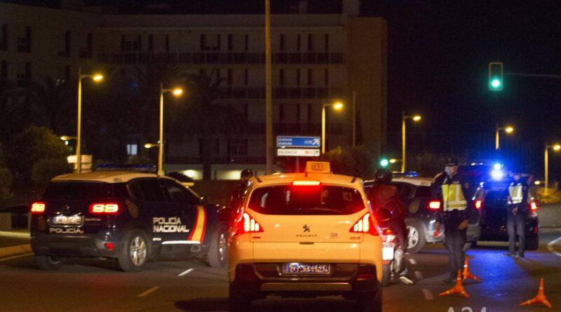 Controles Policiales en la ciudad de Alicante 28 octubre 2020 desde las 00 h
