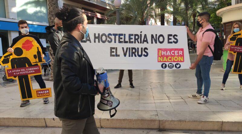 """La impactante campaña de Hacer Nación Alicante en apoyo a la hostelería y el ocio nocturno: """"¡no son el virus!""""."""