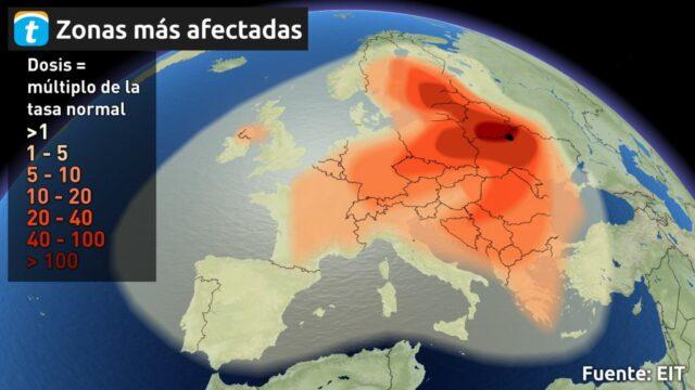 Condiciones meteorológicas clave para la propagación de la radiactividad