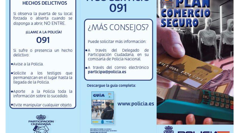 La Policía Nacional de Alicante activa su Plan de Comercio Seguro reduciendo el número de hurtos y deteniendo a cuatro personas este fin de semana