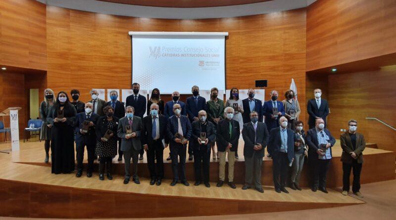 Entrega de los Premios Cátedras Institucionales del Consejo Social de la  UMH