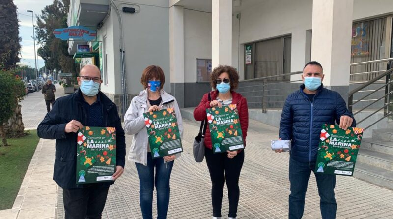 La Concejalía de Comercio de Elche apoya una campaña para dinamizar las compras de Navidad en La Marina a través de un sorteo de premios