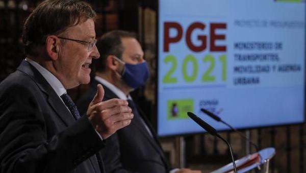 Ábalos destaca que el proyecto de PGE 2021 presentado por el Gobierno contempla en torno a 2.000 millones de euros para el Corredor Mediterráneo