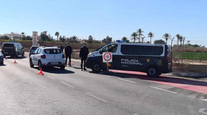 La Policía Nacional descubre en un control policial en Elche una gran cantidad de cocaína oculta en el interior de un vehículo siendo detenido su conductor