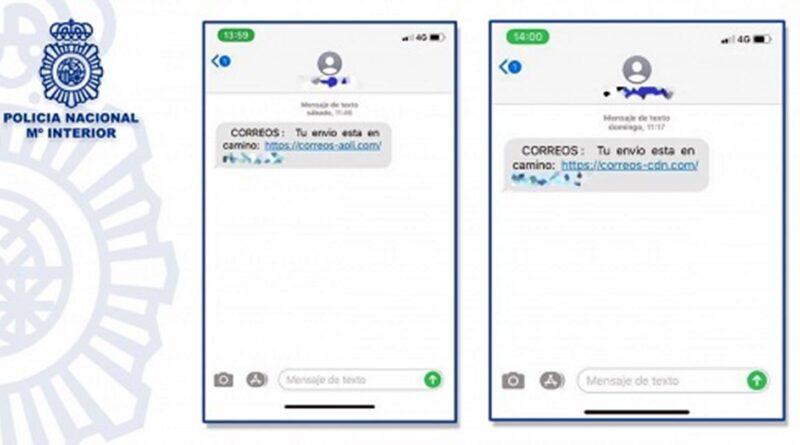 """La Policía Nacional alerta de una campaña de """"smishing"""" que suplanta a Correos"""