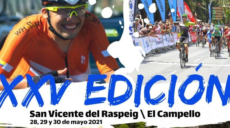 Los días 28, 29 y 30 de mayo se disputará La XXV edición de la Vuelta a la Provincia de Alicante