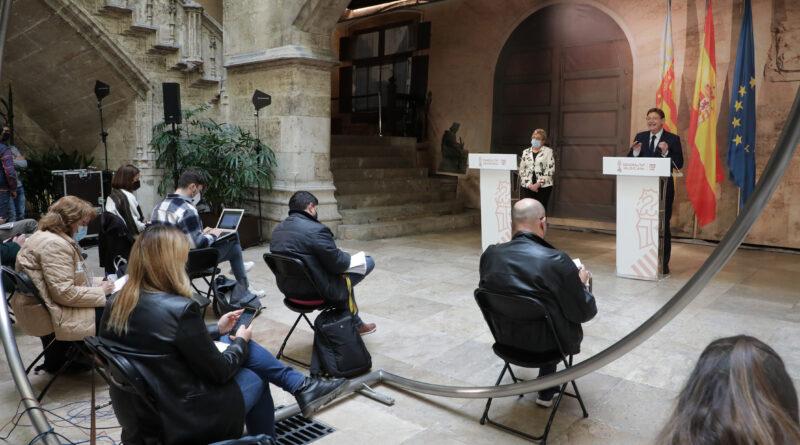 Ximo Puig anuncia una 'desescalada lenta, prudente y progresiva' con la apertura parcial de terrazas y la eliminación del perimetraje municipal durante los fines de semana