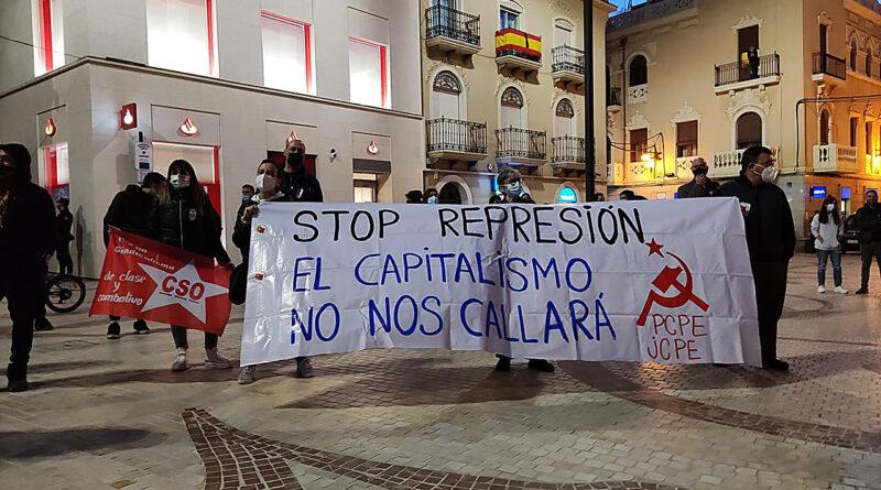 """Manifestación pacífica en la Plaza de Baix de Elche esta tarde a favor de la """"Libertad de Expresión"""""""