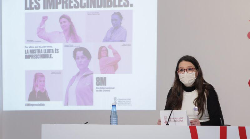 Oltra: 'La campaña del 8M es un homenaje a todas las mujeres que día a día sostenemos lo que realmente es necesario para la vida'