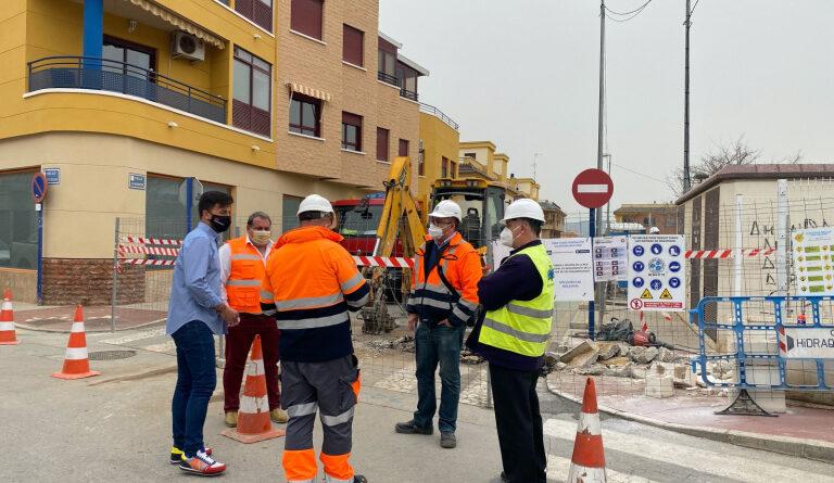 El Ayuntamiento de Orihuela inicia las obras para acabar con las inundaciones en el casco urbano de Los Desamparados
