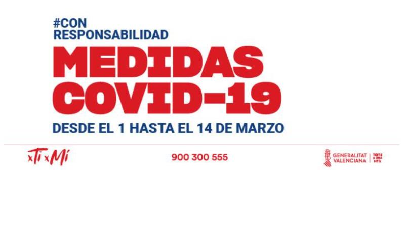 COVID-19 | Nuevas Medidas en la Comunidad Valenciana desde el 1 al 14 de Marzo 2021