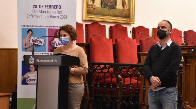 El Ayuntamiento de Elche transmite un mensaje de esperanza y apoyo a las familias y enfermos en el Día mundial de las enfermedades raras